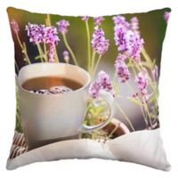 Selections by Arden Lavender Tree Square Outdoor Throw Pillow in Purple
