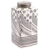 Zuo Modern Mix Large Jar in Cream/Black