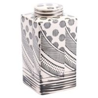 Zuo Modern Mix Medium Jar in Cream/Black