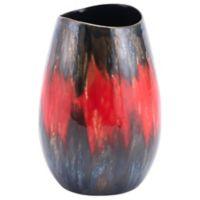 Zuo Modern Lava 7.7-Inch Vase in Black/Red