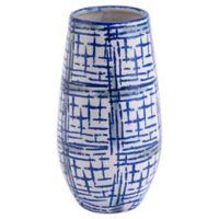 Zuo Modern Rioja Medium Vase in Blue/White