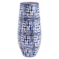 Zuo Modern Rioja Large Vase in Blue/White