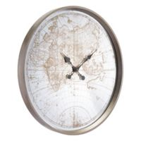 Zuo® Modern Hora Wall Clock in Antique Silver