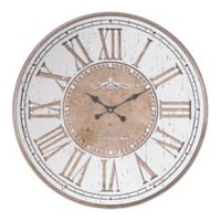Zuo® Modern Hora Mundial Wall Clock in Antique Silver