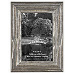 Rustic Impressions 4-Inch x 6-Inch Wood Frame in Aged Silver