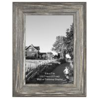 Rustic Impressions 5-Inch 7-Inch Wood Frame in Aged Silver