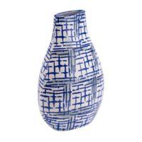 Zuo® Rioja Ceramic Bottle in Blue/White