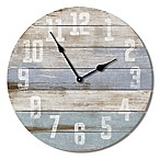 Highland Woodcrafters Pallet 23.5-Inch Wall Clock in Blue/White