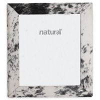 Natural Rugs 8-Inch x 10-Inch Durango Cowhide Picture Frame in Black/White