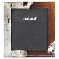 Natural Rugs 8-Inch x 10-Inch Durango Cowhide Picture Frame in Brown/White