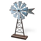 Boston International Windmill Decor in Silver/Brown