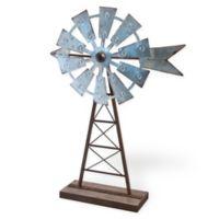 Boston International Windmill Decor in Silver/Brown