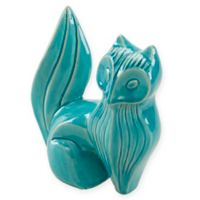 Madison Park Ceramic Fox Decor in Blue