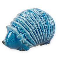 Madison Park Ceramic Hedgehog Decor in Blue