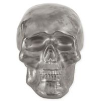 Madison Park Ceramic Skull Decor in Silver