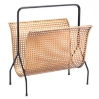 Zuo Modern Dotted Magazine Rack in Gold
