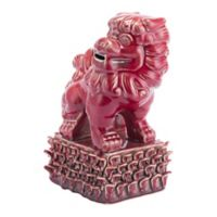 Zuo® Ceramic Foo Dog Sculpture in Red