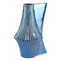 Zuo® Modern Liso Large Ceramic Vase in Deep Blue