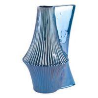 Zuo® Modern Liso Large Ceramic Vase in Deep Blue