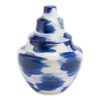Zuo® Modern Pinto Small Ceramic Vase in Blue/White