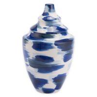 Zuo® Modern Pinto Medium Ceramic Vase in Blue/White