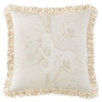 Waterford® Sydney Jacquard Square Throw Pillow in Beige/Linen