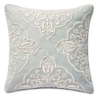 Waterford® Gwyneth Square Reversible Throw Pillow in Pale Blue