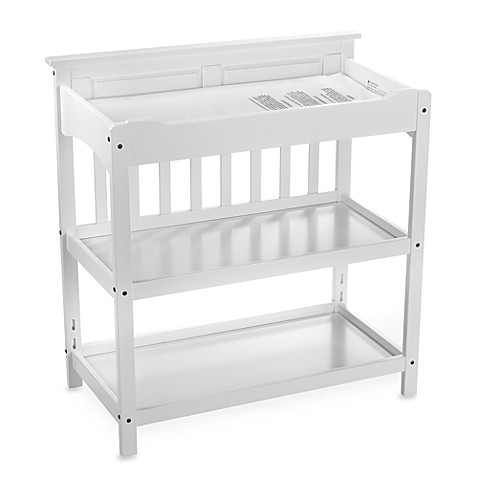 child craft logan upscale changing table in matte white. Black Bedroom Furniture Sets. Home Design Ideas