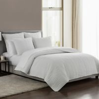 Highline Bedding Co. Messina Reversible King Quilt Set in Ivory