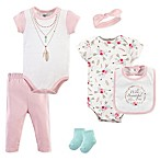 Little Treasures Size 3-6M 6-Piece Boho Layette Set