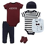 Little Treasures Size 3-6M Glasses 7-Piece Bodysuit, Pant, Hat, Bib, and Sock Set