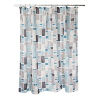 Famous Home® Urban City Shower Curtain in Aqua/Taupe