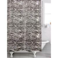 Famous HomeR Zebra Shower Curtain In Black White
