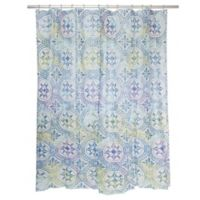 Famous Home® Izmir Shower Curtain in White/Blue