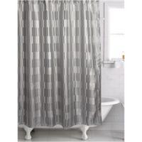 Famous HomeR Birmingham Shower Curtain In Silver Grey