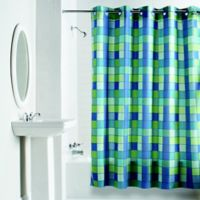 Hookless® Checkmate Shower Curtain in Blue/Green
