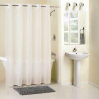 Hookless® Frosty Shower Curtain in White