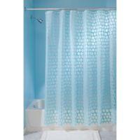 InterDesign® Honeycomb Shower Curtain in Aqua