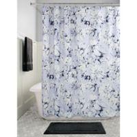 InterDesignR Floral Shower Curtain In Slate Blue Chalk