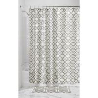 InterDesign® Trellis Shower Curtain in Grey