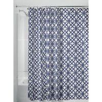 InterDesign® Trellis Shower Curtain in Navy