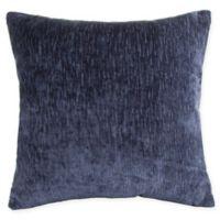 Modern Velvet Square Throw Pillow in Navy