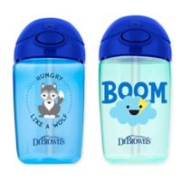Dr. Brown's® Milestones™ 2-Pack 12 oz. Straw Sippy Cups with Lid in Blue