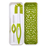 Boon TRIP Travel Drying Rack & Bottle Brushes in White