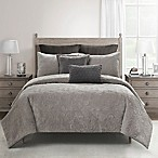 Bridge Street Reese Velvet King Comforter Set in Mink