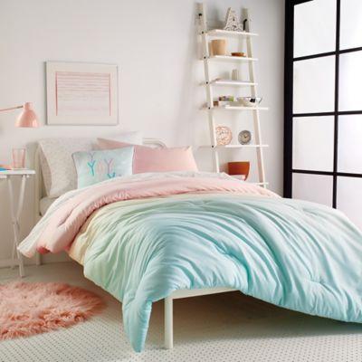 DKNY Kids Empire Light 2 Piece Twin Comforter Set In Pink