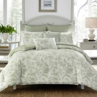 Laura Ashley® Natalie Reversible Twin Duvet Cover Set in Sage