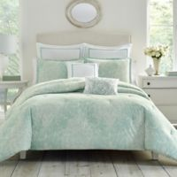 Laura Ashley® Maddox Reversible Full/Queen Comforter Set in Blue