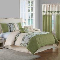 Malibu 7-Piece King Comforter Set in Light Green