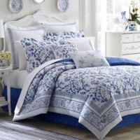 Laura Ashley® Charlotte King Duvet Cover Set in Blue